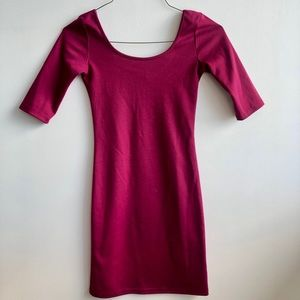 *2/$20* Objects Pink Bodycon 3/4 Sleeve Dress
